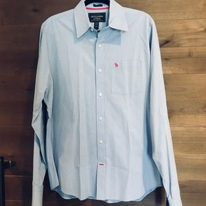 ABERCROMBIE & FITCH Blue Stripe Button Down Shirt